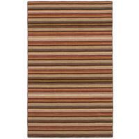 eCarpetGallery Flatweave Manhattan Brown Wool Kilim Rug - 5'0 x 7'10