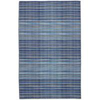 eCarpetGallery FlatweaveManhattan Blue Wool Kilim Rug - 5'0 x 8'0