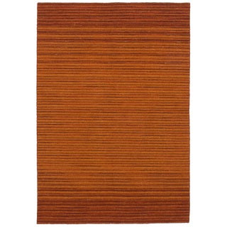eCarpetGallery Flatweave Manhattan Orange Wool Kilim (5'0 x 7'6)