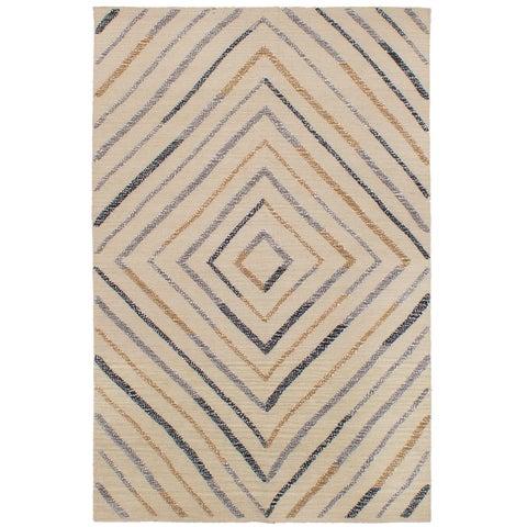 eCarpetGallery Flatweave Cambridge Yellow Wool Kilim Rug - 5'1 x 8'0