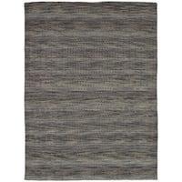 eCarpetGallery Hand-Knotted Luribaft Gabbeh Riz Grey  Wool Rug (5'1 x 7'7)