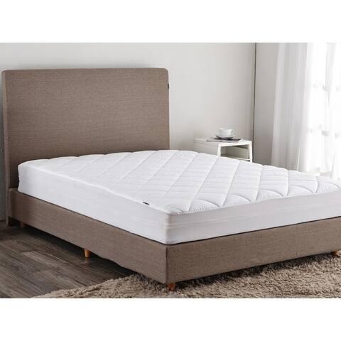 St. James Home 100% Cotton Top Down Alternative Mattress Pad - White