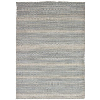 eCarpetGallery Hand-Knotted Luribaft Gabbeh Riz Grey Wool Rug (5'3 x 7'7)