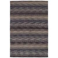 eCarpetGallery Hand-Knotted Luribaft Gabbeh Riz Grey  Wool Rug (4'7 x 6'7)