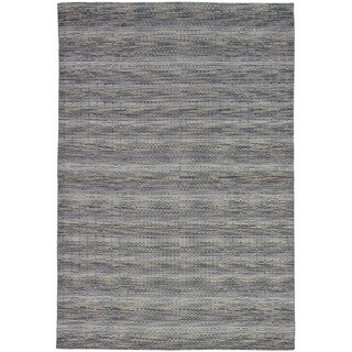 eCarpetGallery Hand-Knotted Luribaft Gabbeh Riz Grey Wool Rug (6'7 x 9'6)