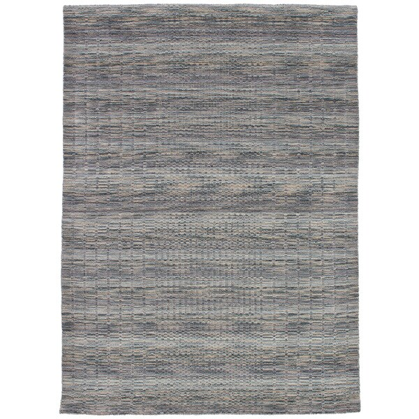 eCarpetGallery Hand-Knotted Luribaft Gabbeh Riz Green, Grey Wool Rug (5'3 x 7'7)