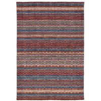 eCarpetGallery Hand-Knotted Luribaft Gabbeh Riz Brown, Red  Wool Rug (5'3 x 7'7)