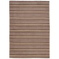 eCarpetGallery Hand-Knotted Luribaft Gabbeh Riz Brown  Wool Rug (5'3 x 7'7)