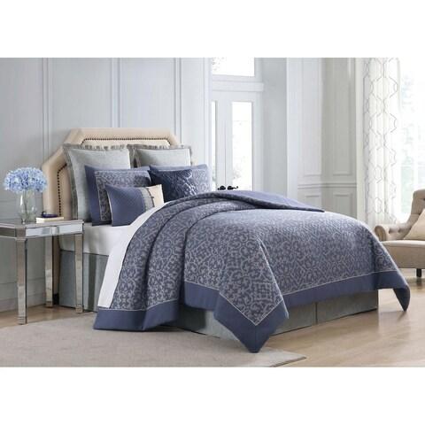 Charisma Villa Blue Woven Jacquard Duvet Cover Set