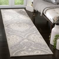 "Safavieh Handmade Blossom Light Grey/ Ivory Wool Rug - 2'3"" x 8'"