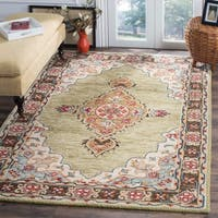 "Safavieh Handmade Aspen Bohemian Sage/ Brown Wool Rug - 2'3"" x 7'"
