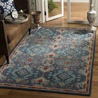 Safavieh Handmade Heritage Blue/ Multi Wool Rug - 6' x 6' Square