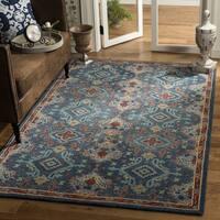 Safavieh Handmade Heritage Blue/ Multi Wool Rug (6' Square) - 6' x 6' Square
