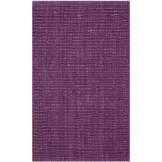 Safavieh Hand-Woven Natural Fiber Purple Jute Rug (2' x 3')