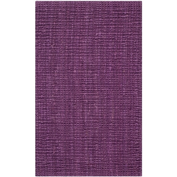 Safavieh Hand-Woven Natural Fiber Purple Jute Rug - 2' x 3'