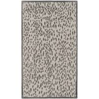 Safavieh Hand-Woven Marbella Light Grey/ Dark Grey Polyester Rug - 2'3 x 4'