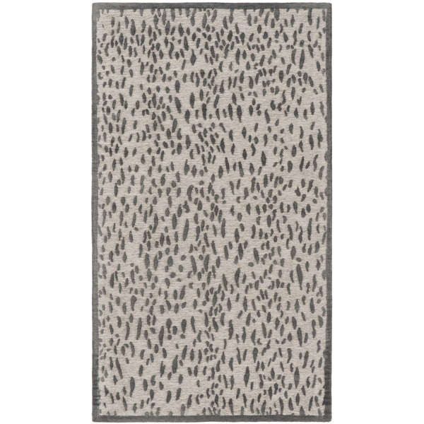 Safavieh Hand-Woven Marbella Light Grey/ Dark Grey Polyester Rug - 2'3 x 4'