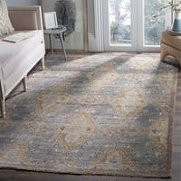Safavieh Hand-Knotted Izmir Charcoal/ Taupe New Zealand Wool Rug - 9' x 12'
