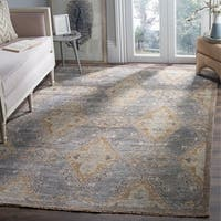 Safavieh Hand-Knotted Izmir Charcoal/ Taupe New Zealand Wool Rug - 6' x 9'