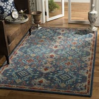 Safavieh Handmade Heritage Blue/ Multi Wool Rug (5' x 8') - 5' x 8'