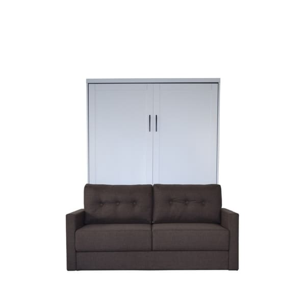 Shop Queen Andrew Sofa Murphy Bed In Pearl White Finish