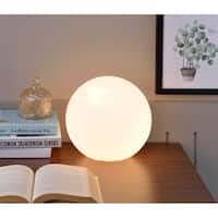 Small White Glass Globe Table Lamp