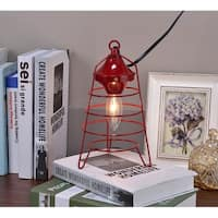 Red Camp Lantern Table Lamp