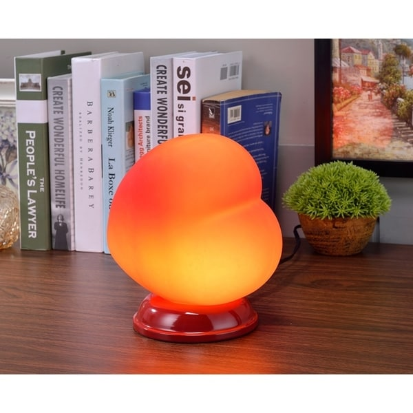 Red Heart Shaped Table Lamp