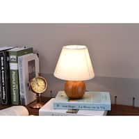 Wooden Cube Table Lamp