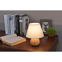 Natural Wood Cube Table Lamp
