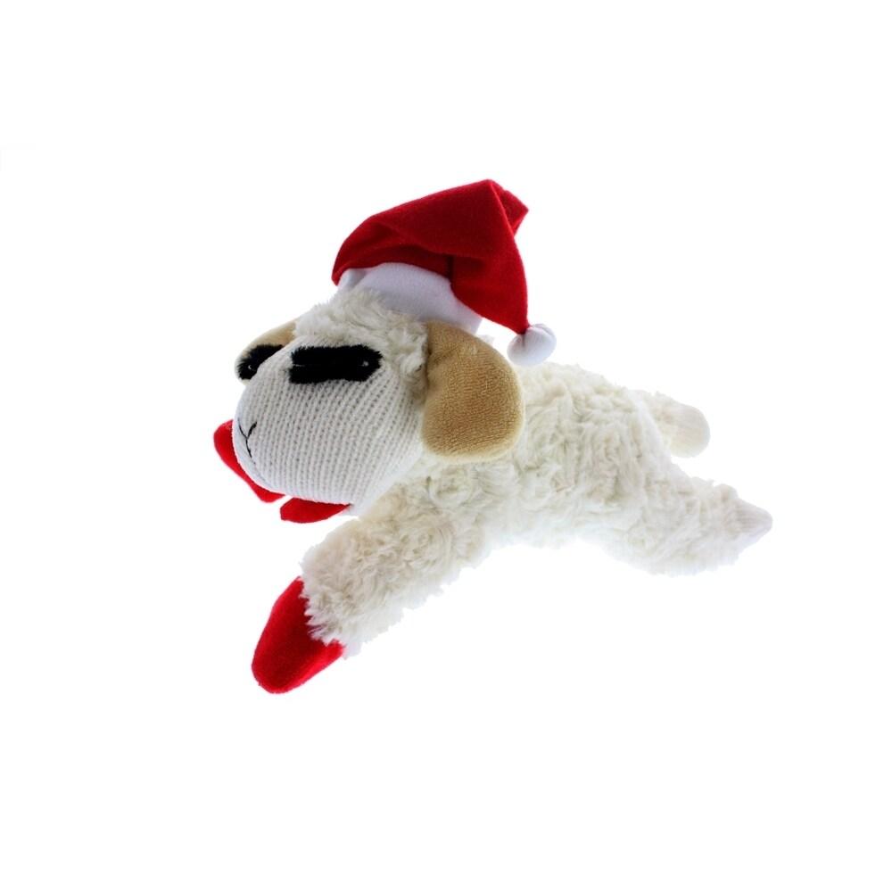 Multipet Lamb Chop Holiday Plush Toy (6 inch), White, Siz...
