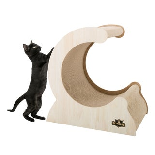 Cat Scratching Post- Wood and Cardboard Scratcher by PETMAKER