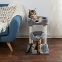 4 Tier Cat Tree- Plush Multi-Level Cat Tower By PETMAKER
