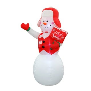 buy christmas inflatables online at overstockcom our best christmas decorations deals - Snoopy Blow Up Christmas Decorations