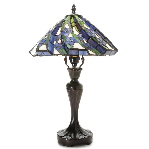 Tiffany-style White Flower Table Lamp
