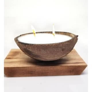 2 Set of Coconut Shell Soy Candles