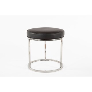 Nora Black Faux Leather Stool
