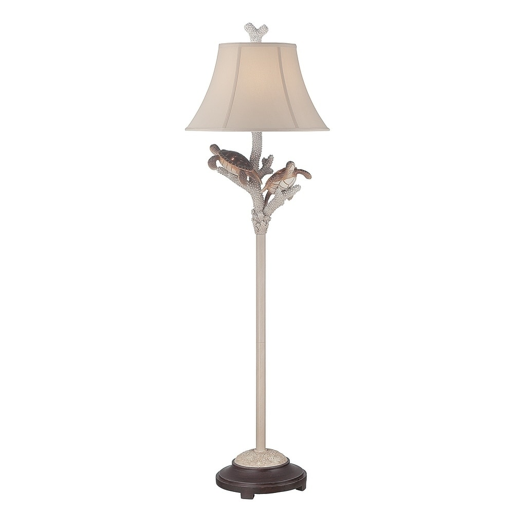 Seahaven Twin Turtle White Metal 61.5-inch-high Night Lig...