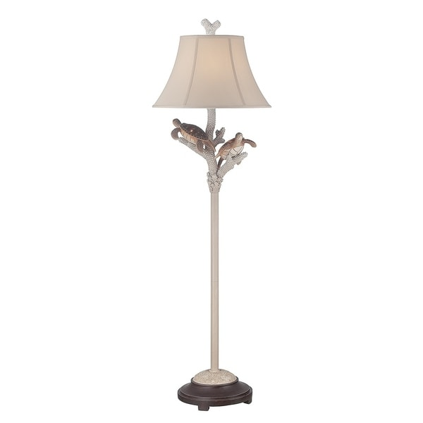 "Seahaven Twin Turtle Night Light Floor Lamp 61.5"" high"