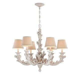 "Seahaven Coral Six-Light Chandelier 24"" high"