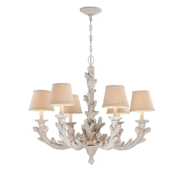Seahaven coral white resin 6 light chandelier free shipping today seahaven coral white resin 6 light chandelier aloadofball Gallery