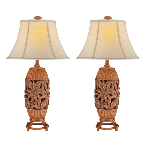 Seahaven Palm Tree Table Lamp 32 High
