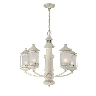 "Seahaven Lighthouse Five-Light Chandelier 23.5"" high"