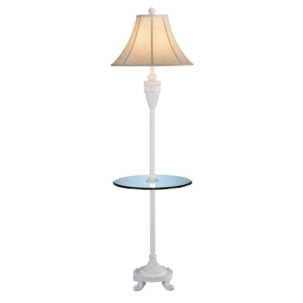 Shop Seahaven Shell Cottage White Glass Tray Floor Lamp 64 High