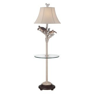 """Seahaven Twin Turtle Night Light Glass Tray Floor Lamp 61"""" high"""