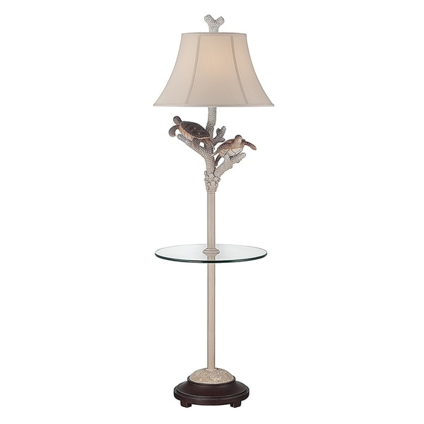 Shop Seahaven Twin Turtle Night Light Glass Tray Floor Lamp 61 High