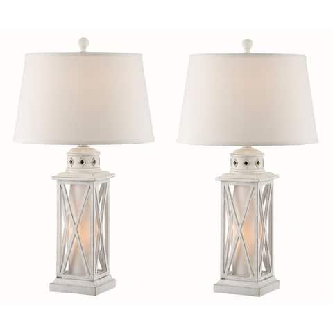 Seahaven Galveston Island Lantern Night Light Table Lamp (Set of 2)