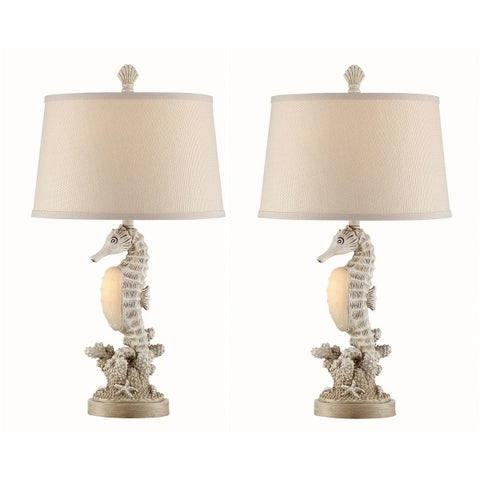 "Seahaven Accent Seahorse Night Light Table Lamp 26.5"" high"