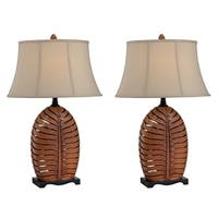 "Seahaven Oval Leaf Night Light Table Lamp 30.5"" high"