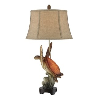 "Seahaven Cruising Turtle Night Light Table Lamp 33"" high"
